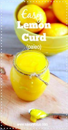 Easy Lemon Curd (paleo)) - savorylotus.com #lemon #curd #dessert #paleo