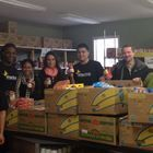 Members of the Raritan Valley Community College's Enactus team are working to help fight hunger by participating in the 2013–2014 Let's Can Hunger initiative, sponsored by Campbell Soup Company.