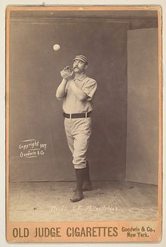 Woods, Left Field, Philadelphia, from the series Old Judge Cigarettes