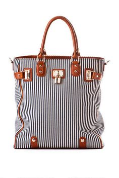 Santa Monica Stripe Lock Tote-makes me want to go to the beach!