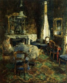 The Bourgeois Salon, James Ensor. Belgian (1860-1949)