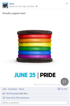 I do not even like Oreo's, but going to buy them just to offset the hate towards Gay Pride Oreo's.   Gay bashing cookies- wt?