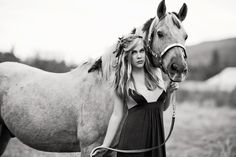 picture in my prom dress!:) but with my cow instead of horse