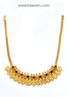 22K Gold PEACOCK Vaddanam Totaram Jewelers Buy Indian Gold