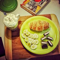 #food #croissant #chocolate #coffee #morning #book
