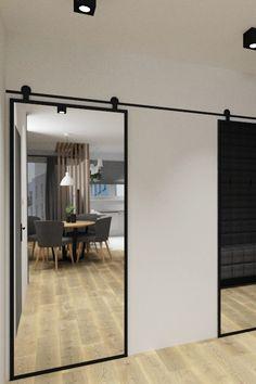My Home Design, House Design, Modern Closet Doors, Sliding Door Design, First Apartment Decorating, Bathroom Layout, Closet Bedroom, Interior Barn Doors, Home Living Room