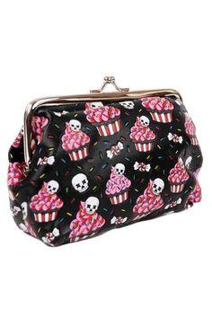 Cute skull cupcake coin purse