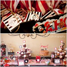 Pirate theme boys party! So cute!