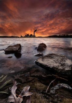 Lake Julian power plant ~ USA by Todd Wall on 500px