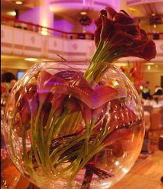 Purple Calla Lily Centerpieces | modern purple calla lily centerpiece by Flowers of the ... | Centerpi ...