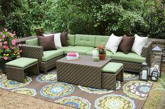 Amazon.com : AE Outdoor Hampton 8 Piece Sectional with Sunbrella Fabric : Patio, Lawn & Garden