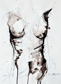 -------------------------------------------------- ------------------ étude pour metamorphosis2 © Alexandru Crisan 2014 ------------------------- ------------------------------------------- lien: http://alexandrucrisan . artworkfolio.com / --------------------------------------------- -----------------------.  encre sur paper.29.7x42cm .. Dans Gens, Nu, Femme.  Métamorphose 2, dessin de Alexandru Crisan.  Image # 498611