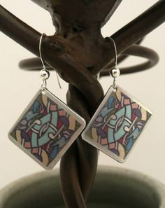 Celtic Earrings Inspired by Book of Kells by MeAndMyMansJewelry on Etsy