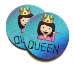 Queen emoji car coasters for you cup holders  by spreadblessings