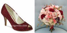 Zapatos de novia Cosmos granate en www.egovolo.com