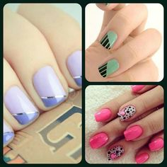 Nails design love the green one