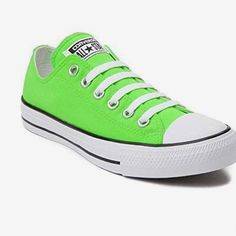 c7c1daf0b9a4 Shop Women s Converse Green Pink size 6 Sneakers at a discounted price at  Poshmark. Description  Comes with hot pink laces.