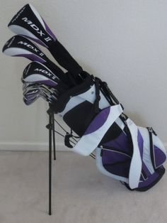 Golf Clubs - Tall Ladies Golf Set Custom Fit for Ladies to Tall Complete Driver Fairway Wood Hybrid Irons Putter Clubs & Stand Bag Ladies Golf Clubs, Best Golf Clubs, Womens Golf Set, Women Golf, Golf Mk4, Golf Card Game, Dubai Golf, Crazy Golf, Golf Club Sets