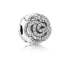 Rose Silver clip with cubic zirconia Price: 309nis