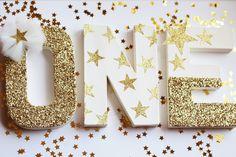 Twinkle Twinkle Little Star Birthday Decorations - Twinkle Little Star Glitter Letters - Stand Alone - Nursery Decor - Cake Table Letters by PrettyLittlePartyCo on Etsy https://www.etsy.com/listing/259620205/twinkle-twinkle-little-star-birthday