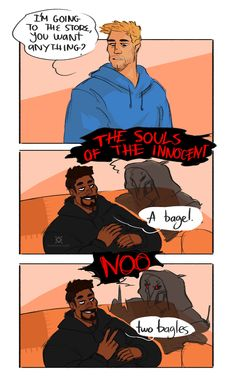 Overwatch Jack and Gabe/Reaper comic by lifewhatisthat on Tumblr