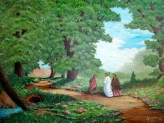 Road to Emmaus inspired painting.  By: Jaynne Sanderson
