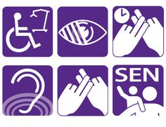 Series of disability icons