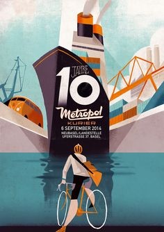 10 Years of Metropol Kurier – Illustrations by Riccardo Guasco.