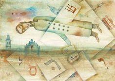 Alphabet by Eugene Ivanov, watercolor on paper, 29 X 41 cm, $450. #eugeneivanov #@eugene_1_ivanov #modern #original #oil #watercolor #painting #sale #art_for_sale #original_art_for_sale #modern_art_for_sale #canvas_art_for_sale #art_for_sale_artworks #art_for_sale_water_colors #art_for_sale_artist #art_for_sale_eugene_ivanov #jew #jewish #judaic