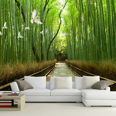 Cheap bamboo murals, Buy Quality bamboo directly from China art deco wallpaper Suppliers: bamboo mural enjoy life and feel the beauty of nature decorative wall panels living room wall art deco wallpaper 3d Wallpaper Living Room, Art Deco Wallpaper, Home Wallpaper, Bamboo Wallpaper, Cheap Interior Wall Paneling, Wallpaper Suppliers, Spanish Home Decor, 3d Wall Murals, Decorative Wall Panels