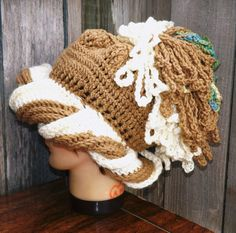 Knitting Pattern For Nudu Hat : African Nudu Hat, Billy Gibbons Hat, ZZ Top Hat, spiked Dayshaloo hat, Ski Ha...