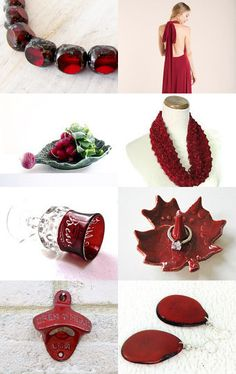 Red Is The New Black by Carol Schmauder on Etsy--Pinned with TreasuryPin.com