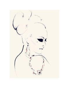 """Golden Girl"" fashion illustration by Kornelia Debosz"