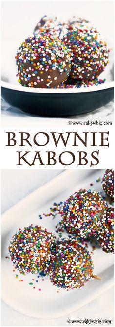 brownie kabobs.