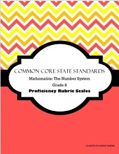 These proficiency scale rubrics comb apart each CCSS standard in this strand by delineating various cognitive demands. This set also includes one formative assessment matrix for each CCSS.Math.Content.NS.8 standard making it easy for teachers to plan, organize and execute formative assessments for student learning and growth!