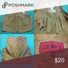 J.B. Boy's Vest Very gently worn, no flaws! J.B. Boy's vest size 10. Outer shell genuine leather lining nylon J.B Boy's Tops
