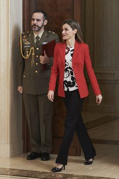 Royals & Fashion - Queen Letizia attended several hearings in the Zarzuela Palace, in Madrid.