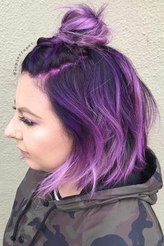 Insanely Cute Purple Hair Looks You Wont Be Able to Resist ★ See more: http://lovehairstyles.com/insanely-cute-purple-hair-looks/