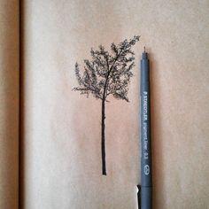 Sketchy Tree drawing van Lakotastyle op Etsy