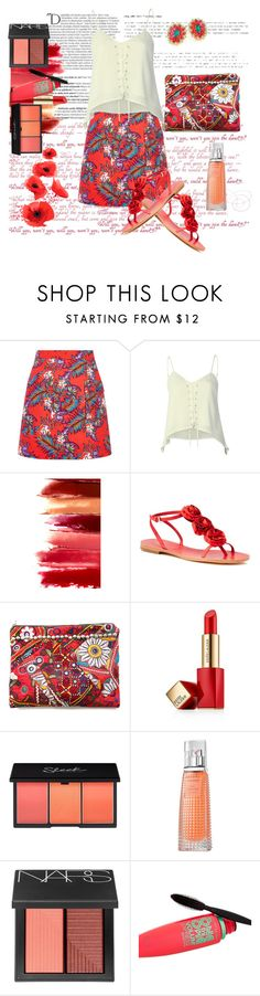 """""""Casual weekend"""" by stars-5 ❤ liked on Polyvore featuring Balmain, House of Holland, Pilot, Kate Spade, Simone Camille, Estée Lauder, Givenchy, NARS Cosmetics, Maybelline and House of Lavande"""