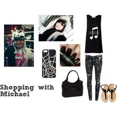 """""""Shopping with Michael"""" by bandslove on Polyvore 5sos Inspired Outfits, 5sos Outfits, Band Outfits, New Outfits, Cute Outfits, Mikey Clifford, Michael Clifford, Michael Imagines, 5sos Preferences"""