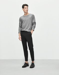 "New! Did you know you can now find out how every garment was made? Click the ""Who Made It"" Tab. <br /><br /> Sporty yet sophisticated tailored slacks. Relaxed fit with a slightly cropped leg. Elasticated waistband with waxed drawstrings, two side pocket"