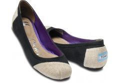 Toms makes ballet flats?! Could it be true? Finally a pair of comfortable flats? Too bad they're $80