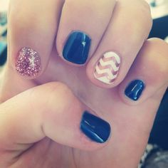 navy and glitter!