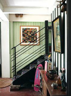 Staircase rail! Brisbane Home · Adam Lester, Caro Toledo and Family via The Design Files