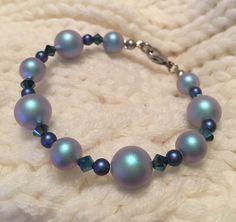 Armband Swarovski, Beaded Bracelets, Jewelry, Welcome Spring, Spring Summer, Crystals, Beads, Handmade, Blue