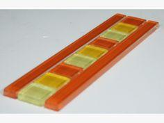 Orange Glass Border Tile