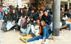 old school(PAOK)_ πλατεία Ομονοίας(1987) School Football, Old School, Fans, Followers