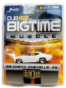 Big Time Muscle 69 CHEVY CHEVELLE SS / WHITE / 1:64 Scale / Dub City / 2005 $24.95
