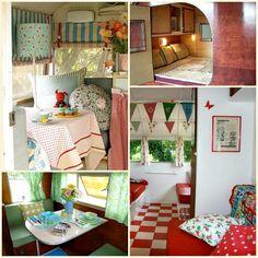 old vintage camper trailer interior Vintage Campers Trailers, Retro Campers, Vintage Caravans, Camper Trailers, Airstream Campers, Vintage Camper Interior, Trailer Interior, Kombi Home, Camping Glamping